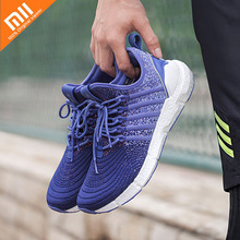 Xiaomi FREETIE Lightweight Mens Casual Shoes Woven Upper Breathable Mesh Shock Absorption 39-45 yard Men Sneakers
