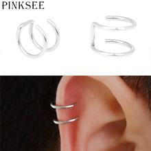 PINKSEE5Pcs/Lot Silver Color Helix Cartilage Ring Fake Ear Clip
