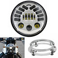 "Harley 7 inch LED Projector Daymaker Headlight  7"" LED Round Headlight Mounting Ring for Harley FLHR Road King FLHX Street Glide"