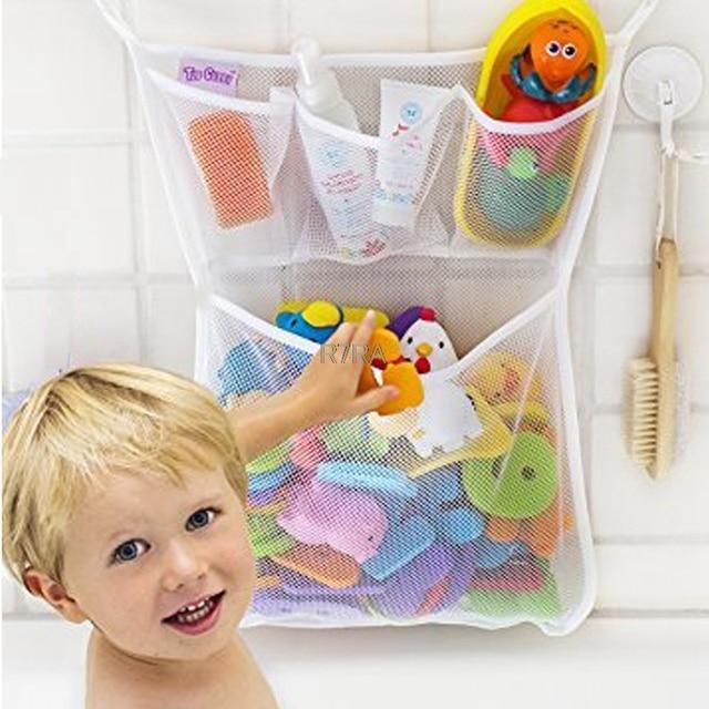 Baby Bathroom Mesh Bag Child Bath Toy Bag Net Suction Cup Baskets Bathtub Storage Bag Organizer Holder Stuff Tidy-TwFi