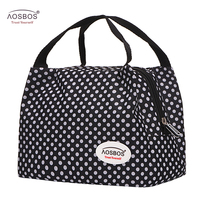 Aosbos Fashion Oxford Thermal Lunch Bags For Women Insulated Cooler Box Tote Men Kids Adults Portable