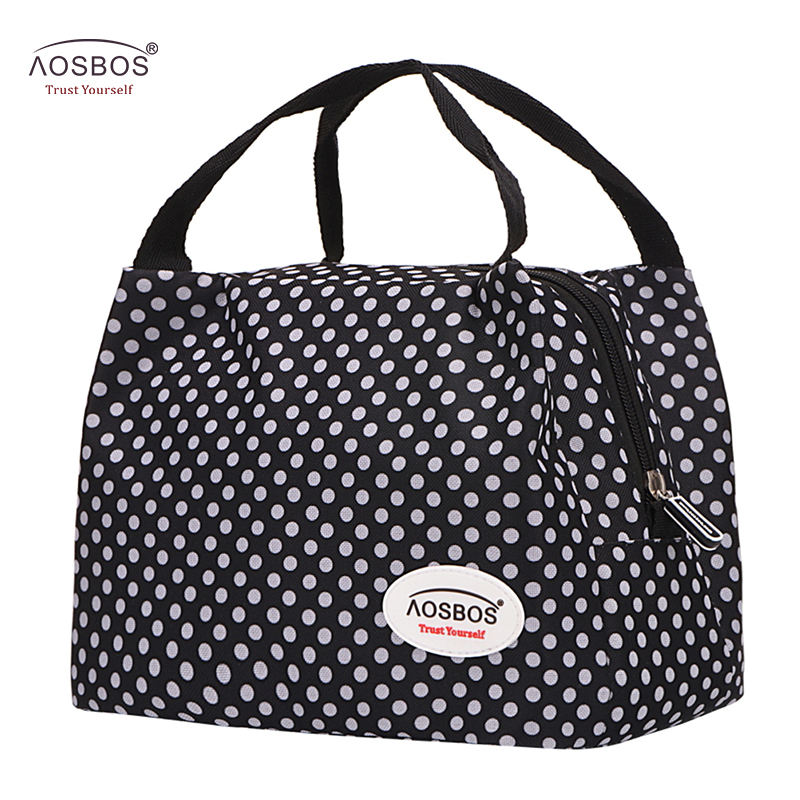 Aosbos Fashion Oxford Thermal Lunch Bags For Women Insulated Cooler Box Tote Men Kids Adults Portable Picnic Storage Container