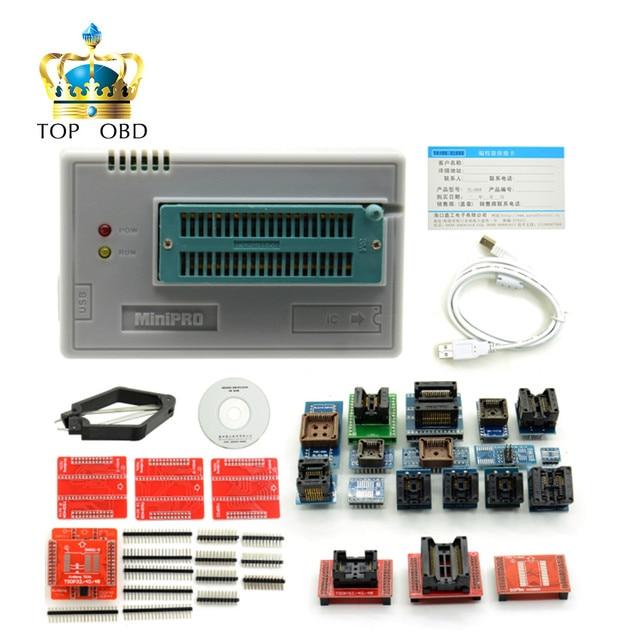 Новейшие V6.1 TL866CS Программист + 21 Адаптеры + IC Зажим Высокая Скорость TL866 AVR PIC Bios 51 MCU Flash EPROM программист