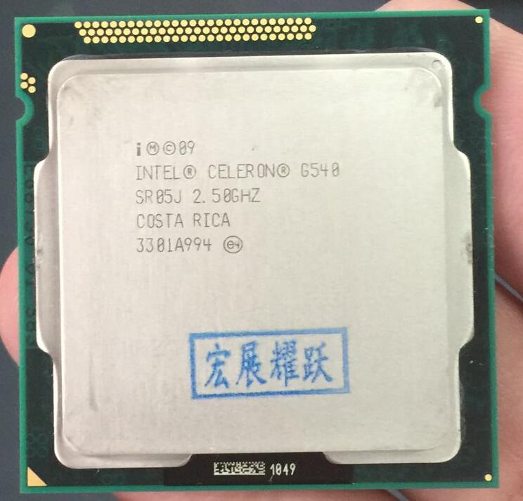 Original Intel Celeron G540 Cpu 2M Cache, 2.50 GHz Socket LGA1155 TDP 65W PC Computer Desktop Dual-Core CPU