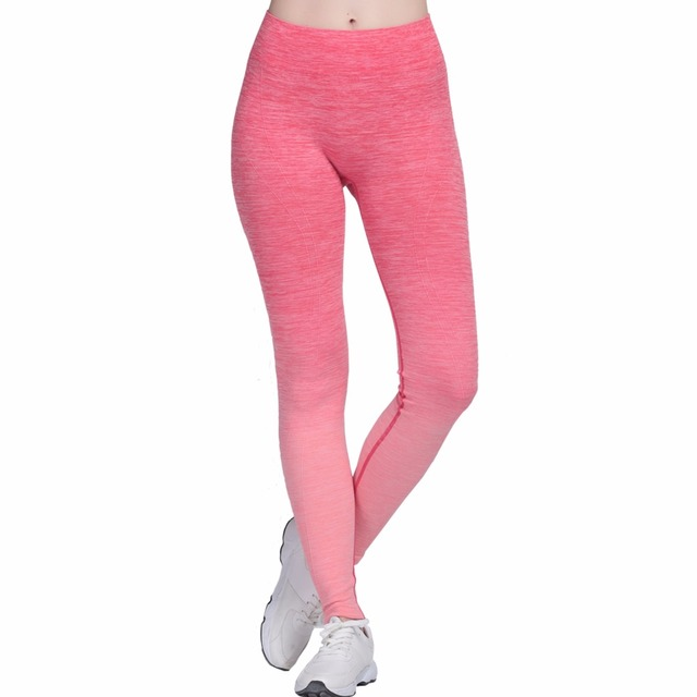 1508f5091d8 Gradient Dangling Yoga Pants Plus Size New Design Sport Running Leggings  Tight Breathable Elasticity Fitness 4Colors