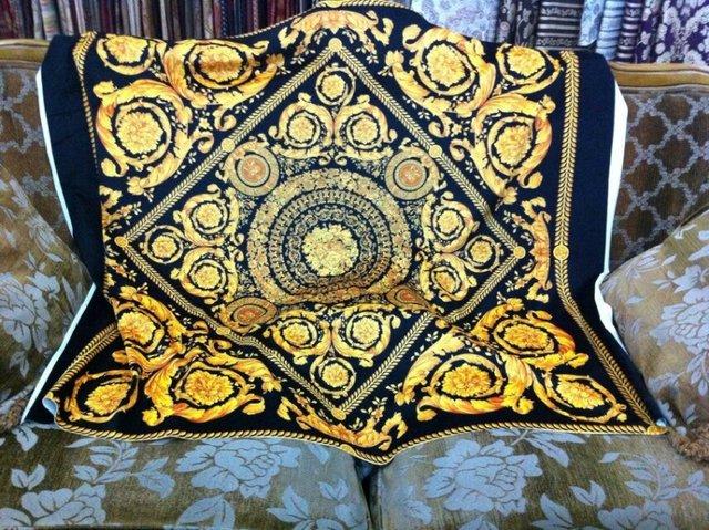 gratis verzending hoge kwaliteit luxe koninklijke klassieke zware stof voor maken sofa stoel kussenhoes