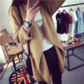 2016 New Fashion Women Winter Women Knitted Cashmere Cardigan Sweater Long Solid Slim Asymmetry Long Sleeve B847