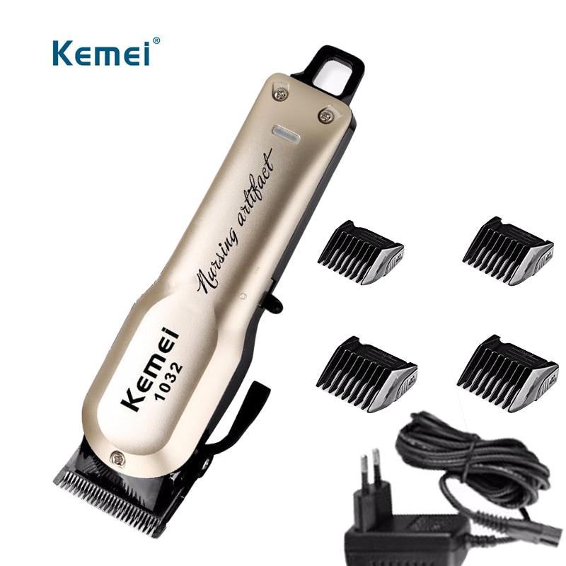 Kemei Rechargeable électrique coupe de cheveux Machine pour homme professionnel étanche cheveux tondeuse sans fil électrique tondeuse KM-1032 - 4