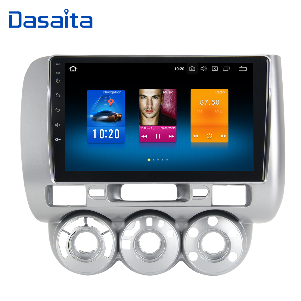 Android 8.0 1 din Car Radio GPS for Honda JAZZ FIT 2002 2003 2004 2005 2006 2007 2008 Manual AC LFD IPS 1024*600