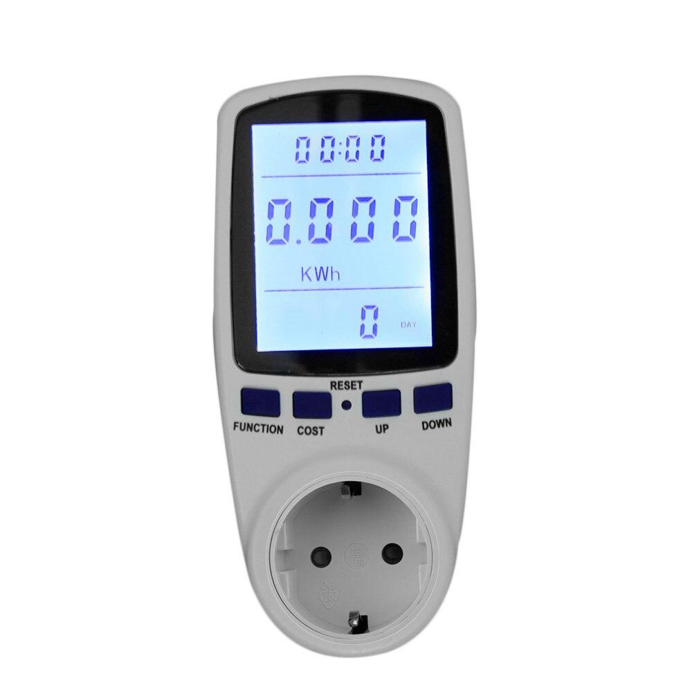 imágenes para Digital Medidor de Energía Socket Plug-in Medidor de Potencia Eléctrica TS-836B Pantalla LCD Monitor de Energía de LA UE Plug Envío de La Gota