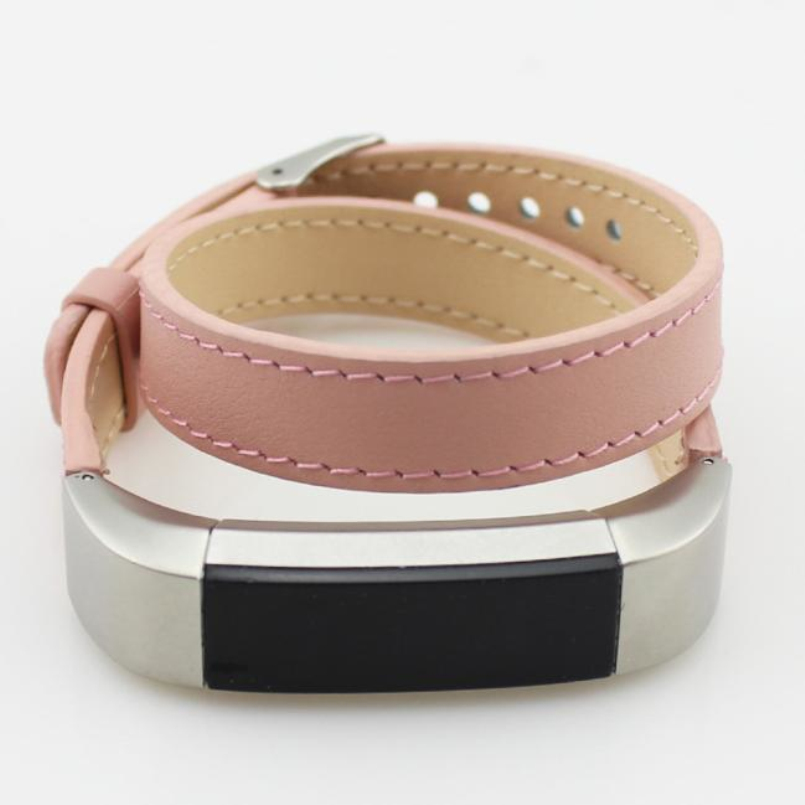 New Arrive Watchbands Luxury Double Tour Genuine Leather Watch Band Strap Bracelet For Fitbit Alta Wrist Band Strap