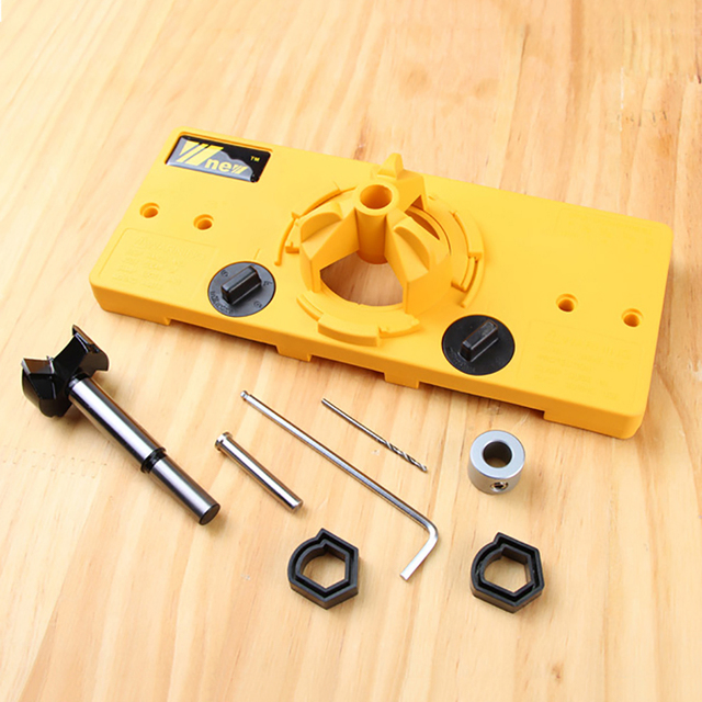 35mm Hinge Jig Drilling Set Guide Hole Locator Apply To
