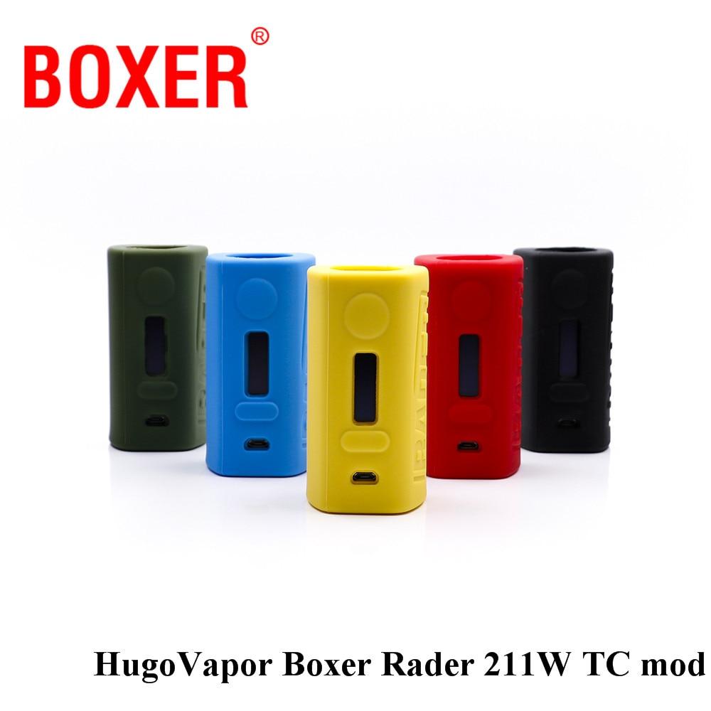 original HugoVapor Boxer Rader 211W TC Box Mod electronic cigarette battery for vape tank  lightest dual-battery mod original lost vape therion dna75 75w tc box mod