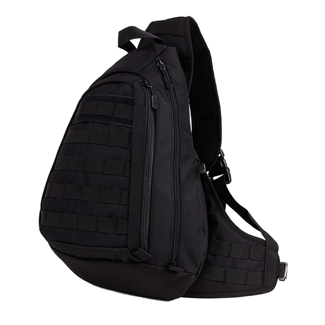 Large Sling Single Shoulder Waterproof Chest Pack Black