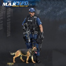 For Collection Soldier Story 1/6 NYPD ESU K-9 Division Police K9 Unit Action Figure With Police dog Male Soldier Figure full set botticelli