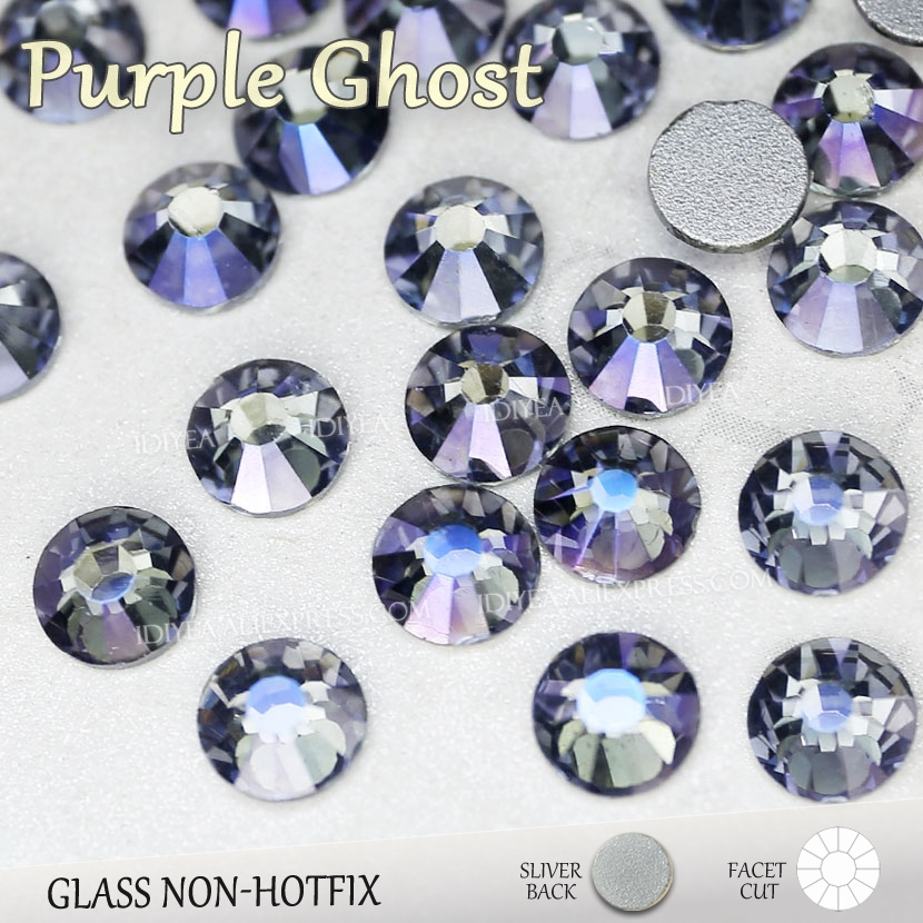 Purple Ghost SS3-SS16 SS20 SS30  Nail Rhinestones Manicure Crystals For Sequins Nails Art Decorations Non Hot Fix Glitters Stone