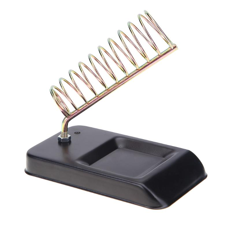 Metal Iron Useful Solid Metal Base Soldering Iron Bracket Stand Holder Support Station Frame Portable for Electrical Working цена