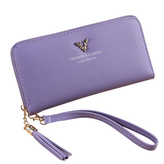 Simple Retro Zipper Long Wallet