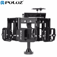 PULUZ for Go Pro Accessories 8 in 1 All View Panorama Frame CNC Aluminum Alloy Protective Cage with Screw for GoPro HERO5 HERO 5