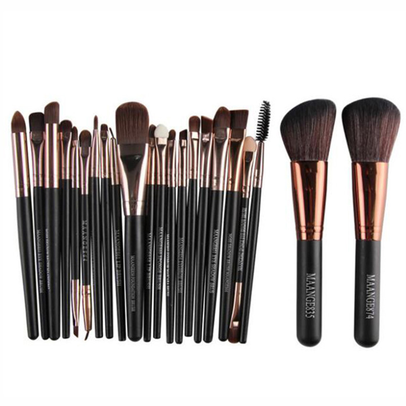 22Pcs Beauty Makeup Brushes Set Cosmetic Foundation Powder Blush Eye Shadow Lip Blend Make Up Brush