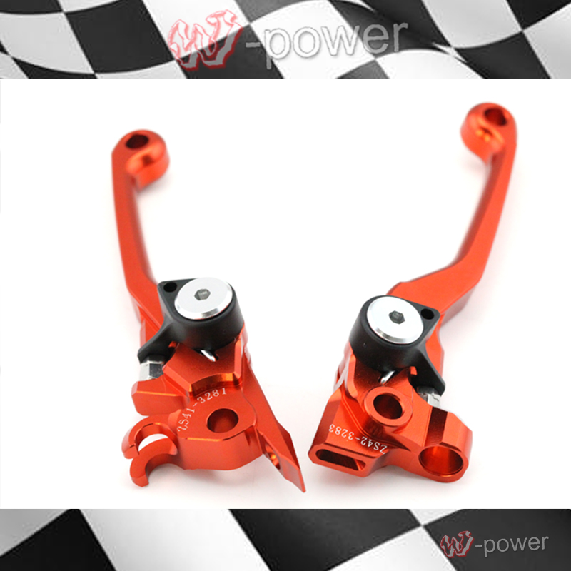 KTM 350 XC-F/XCF-W/SX-F 2007-2013 400EXC/EXC-R/XC-W 2008-2013 Motocross CNC Biller Aluminium Pivot Bremse Kupplungshebel Orange new style dirt bike motocross cnc pivot brake clutch levers green for ktm 350 sx f xc f xcf w exc f 2011 2012 2013 have 7 colors