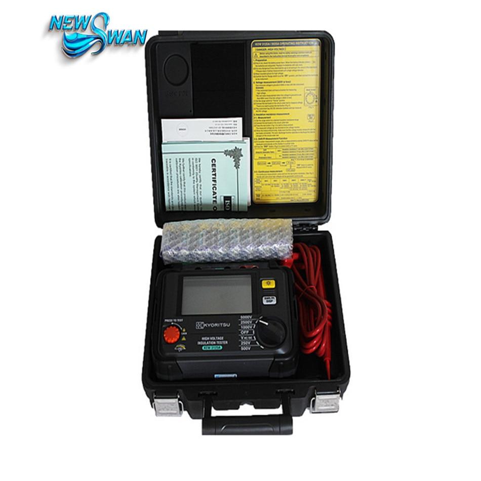 KYORITSU 3125A Replace 3125 Insulation Tester 5000V With High Voltage Insulation Resistance Tester mastech ms5215 high voltage digital insulation resistance tester megometro megger 5000v 3ma temp 10 70c