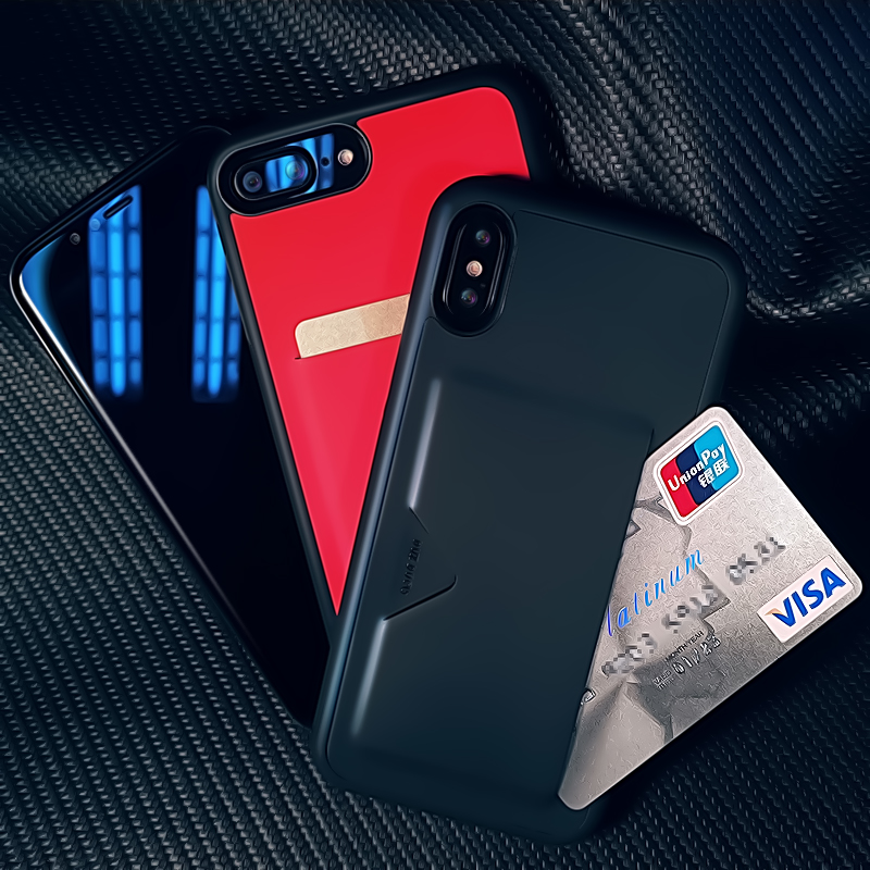 Case For Apple iPhone X 8 7 6s 5SE PU Leather TPU Soft Cases Wallet Credit Card Slot Back Cover Protective Mobile Phone Bag
