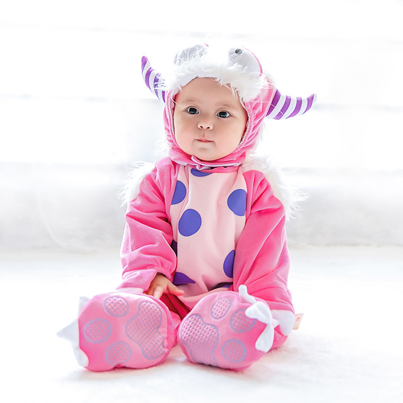 Kids Baby Goat Animal Cosplay Costume for Halloween and Purim Festival Holiday Performance Baby Clothing Rompers brand infants costume series animal clothing set lion monster owl cow clasp elephant kangroo baby cosplay cute free shipping