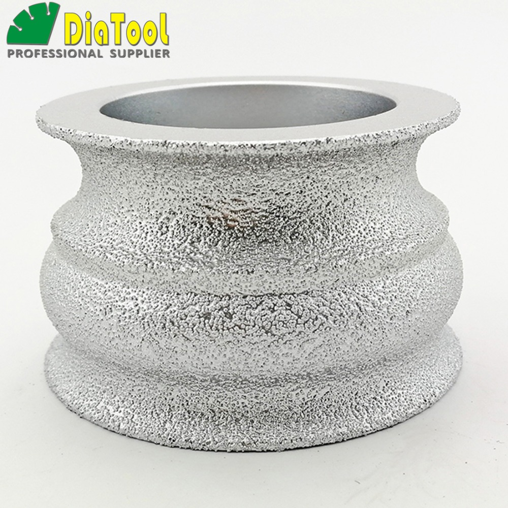 DIATOOL 75mmx45MM Vacuum Brazed Diamond grinding wheel for marble granite and quartz Hand Profile wheel for angle grinder настольная плита мечта 100м