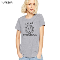 NEW A Song Of Ice And Fire Tops Valar Morghulis Game Of Thrones T Shirts Women