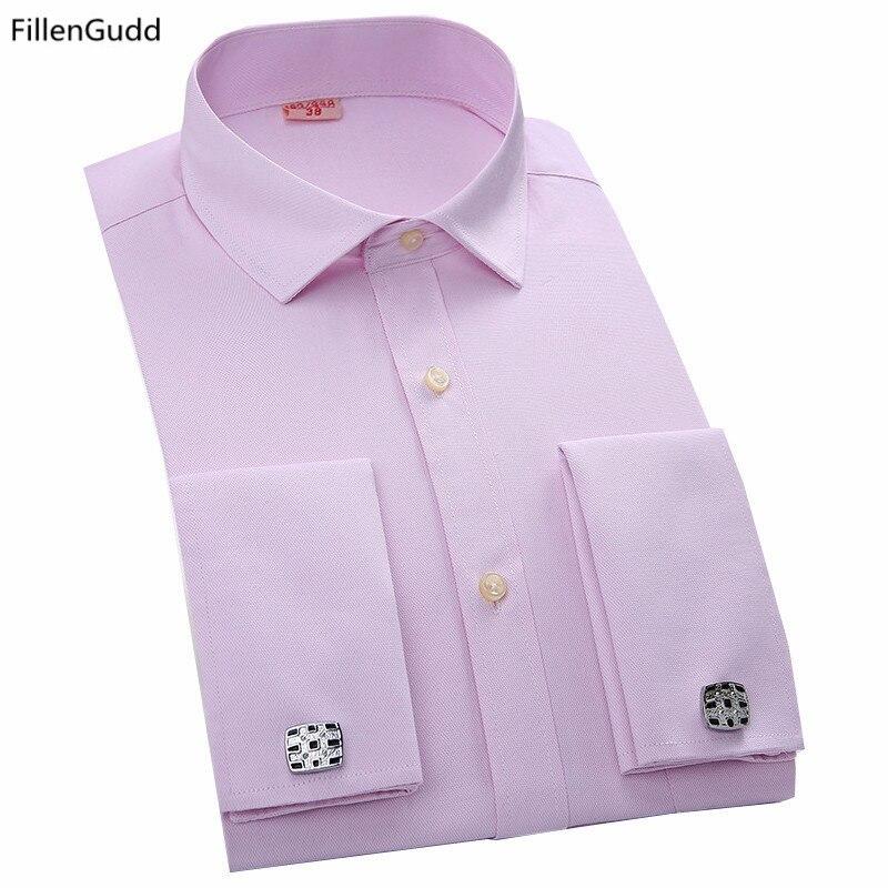 2017 new fashion mens casual dress cufflinks shirts male for Mens dress shirts cufflinks