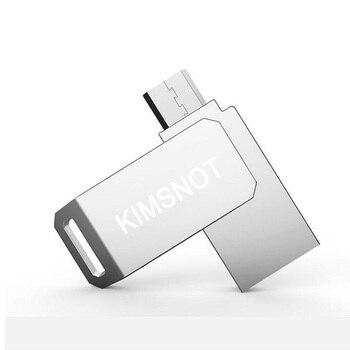 Kimsnot OTG USB Flash Drive 64GB 32GB 16GB 8GB Micro USB Metal Mini Pen Drive High Speed Pendrive Memory Stick Wholesale USB Flash Drives