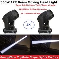 2Pcs/Lot With Flightcase 350W Beam 17R Double Prism Moving Head Beam Lightings Sharpy Beam 17R Beam 350W Moving Head Gobo Lights