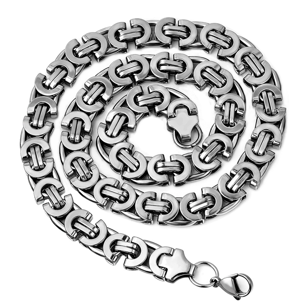 Mens Stainless Steel Byzantine Chains Necklaces Jewellery Hip Hop,Rock,Gift, 2018 accessories Wholesale