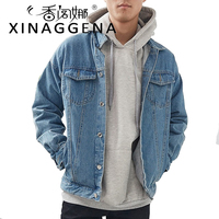 Loose Solid Casual Men Denim Jacket Hip Hop Fashion Thin Jean Coat Clothes Jackets