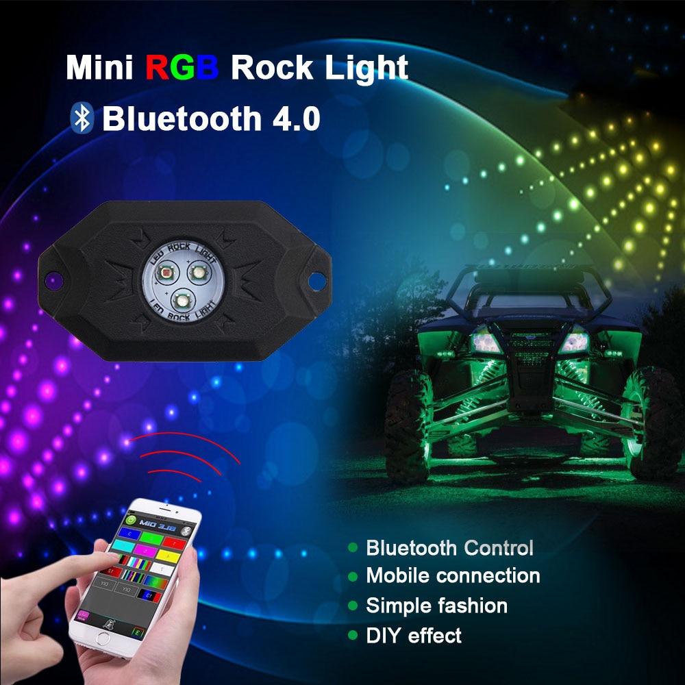 CO LIGHT 4 hüvelyes RGB futófény Bluetooth vezérlővel Távoli - Autó világítás - Fénykép 2