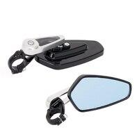 2Pcs Universal Universal Folding Motorcycle Mirror Motorbike Side Mirrors 7 8 22mm Handle Bar End Rearview