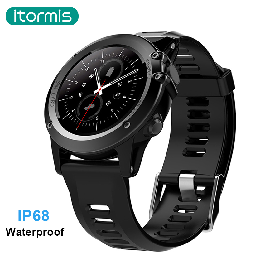 itormis Bluetooth Android Smart Watch Smartwatch SIM Card IP68 Waterproof 3G MTK6572 4GB+512MB Camera GPS Wifi Heart Rate H1 h1 smart watch android 5 1 os smartwatch mtk6572 512mb 4gb rom gps sim 3g heart rate monitor camera waterproof sports wristw