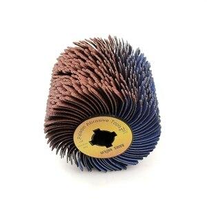Image 5 - Roue de polissage à 4 rainures, 110x100x19mm, pour meubles en bois, finition irrégulière incurvée