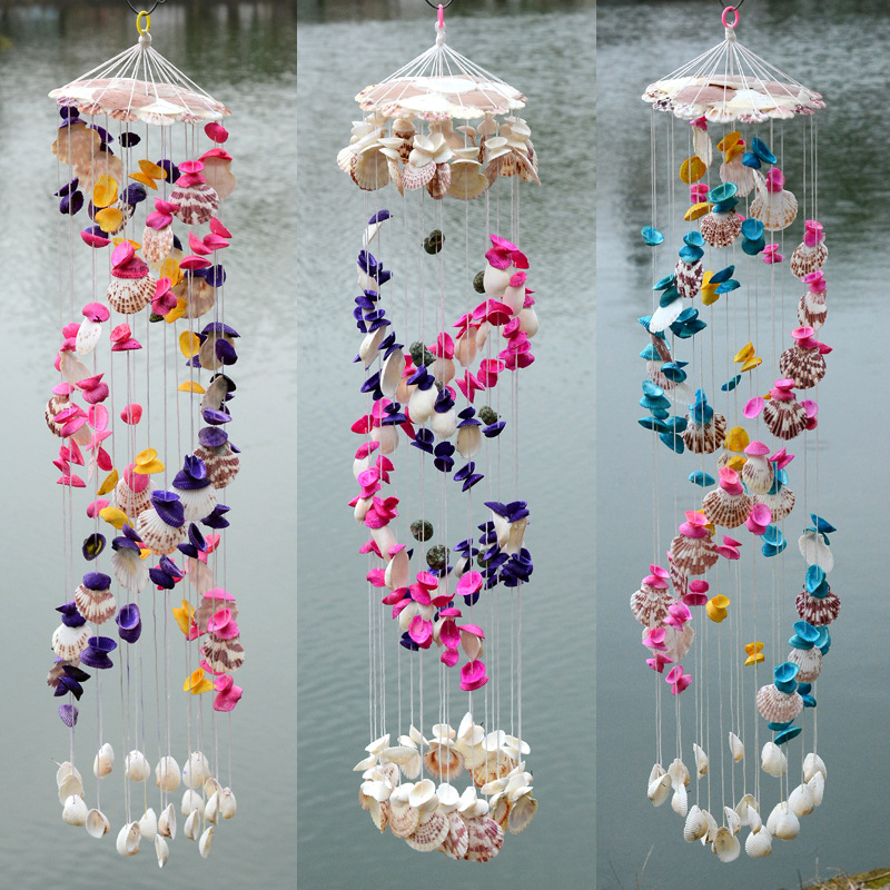 Hanging Home Decor: Shell Chimes Natural Shells Wind Chime Hanging Decoration