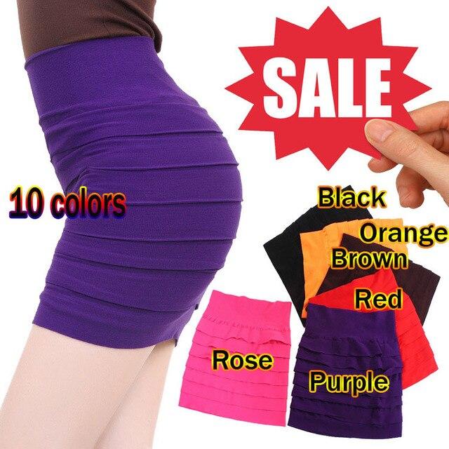 Free shipping Wide fold skirt package hip skirt summer skirt bottoming female half-length skirt  summer Bandage Stretch