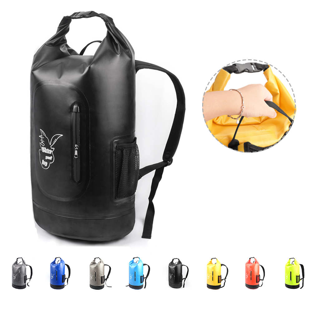 New 20L-35L Waterproof Bags Double Dry Bag Backpack For Outdoor River Trekking Bag Hiking Drifting Swimming Travel Kits PVC Bags