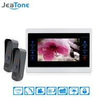 JeaTone 7 Inch 2 To 1 Color Video Door Phone Intercom Door Bell Door Speaker Hands