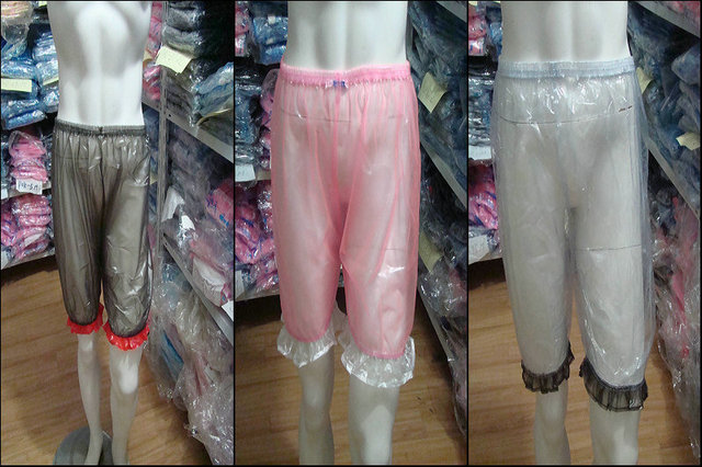 Guaranted 100%  3 pieces  ADULT BABY incontinence PLASTIC PANTS Transparent P011+Full Size