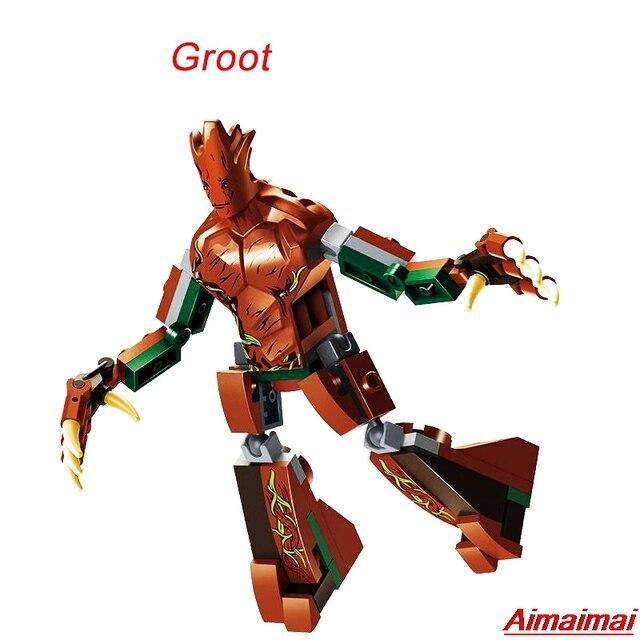 Treeman Árvore Homem Marvel Superheroes Vingadores Série Endgame Infinito Guerra Figuras Building Blocks Crianças Brinquedo Presentes de Aniversário de Bloqueio