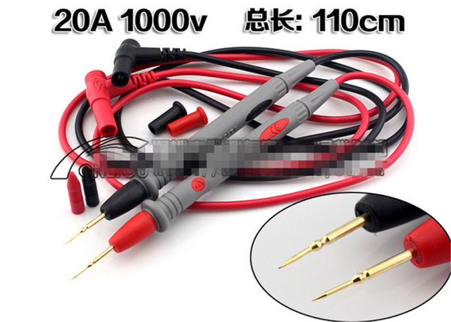 50pairs/set Type A Digital Multimeter Universal Superfine pen 1000V 20A Test Lead Probe Cable SMD SMT Needle Tip