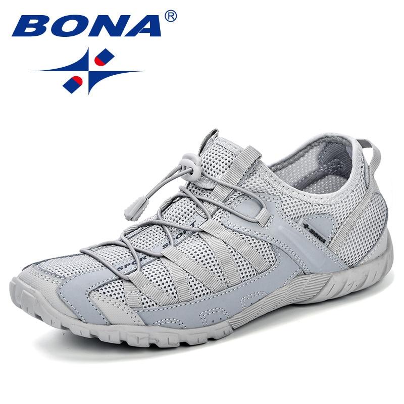 BONA Summer Sneakers Breathable Men Casual Shoes Fashion Men Shoes Tenis Masculino Adulto Sapato Masculino Men Leisure Shoe