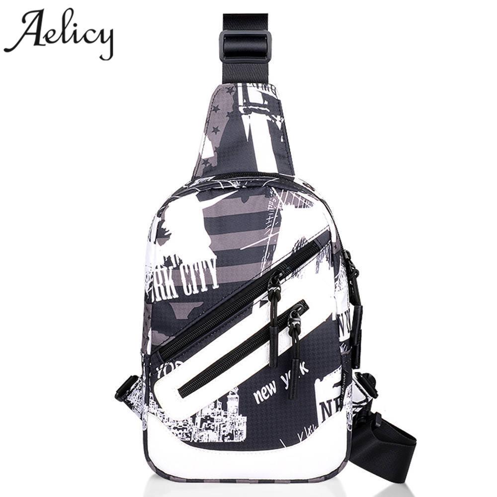 Aelicy Usb Design Umhängetaschen Für Männer Messenger Brust Tasche Pack Casual Bag Einzelnen Schulter Einfache Stil Pu Leathe
