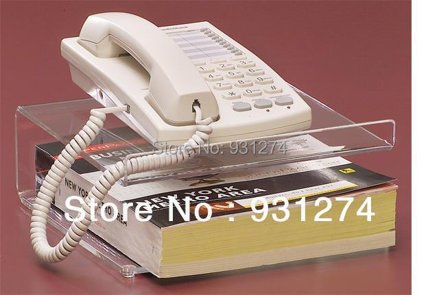 Free Shipping acrylic home use telephone holder rack, Clear lucite office phone stand kicute desktop office business card holder 8 pockets stand clear transparent acrylic counter display stand office home supplies