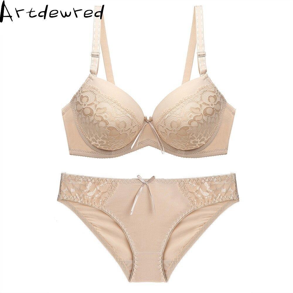 Top Sexy Underwear Set Hot Bras Cotton Brassiere Women Lingerie Panty Set Lace Plus Size Push Up Bra Panties Sets